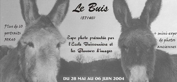 Affiche exposition photo du Buis