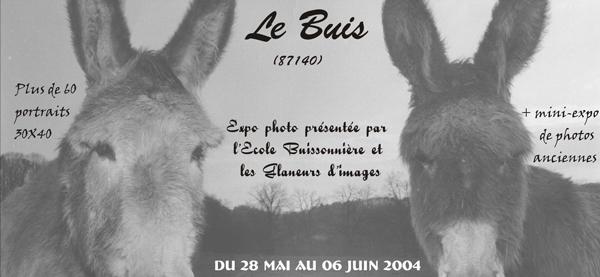 Affiche exposition photo du Buis